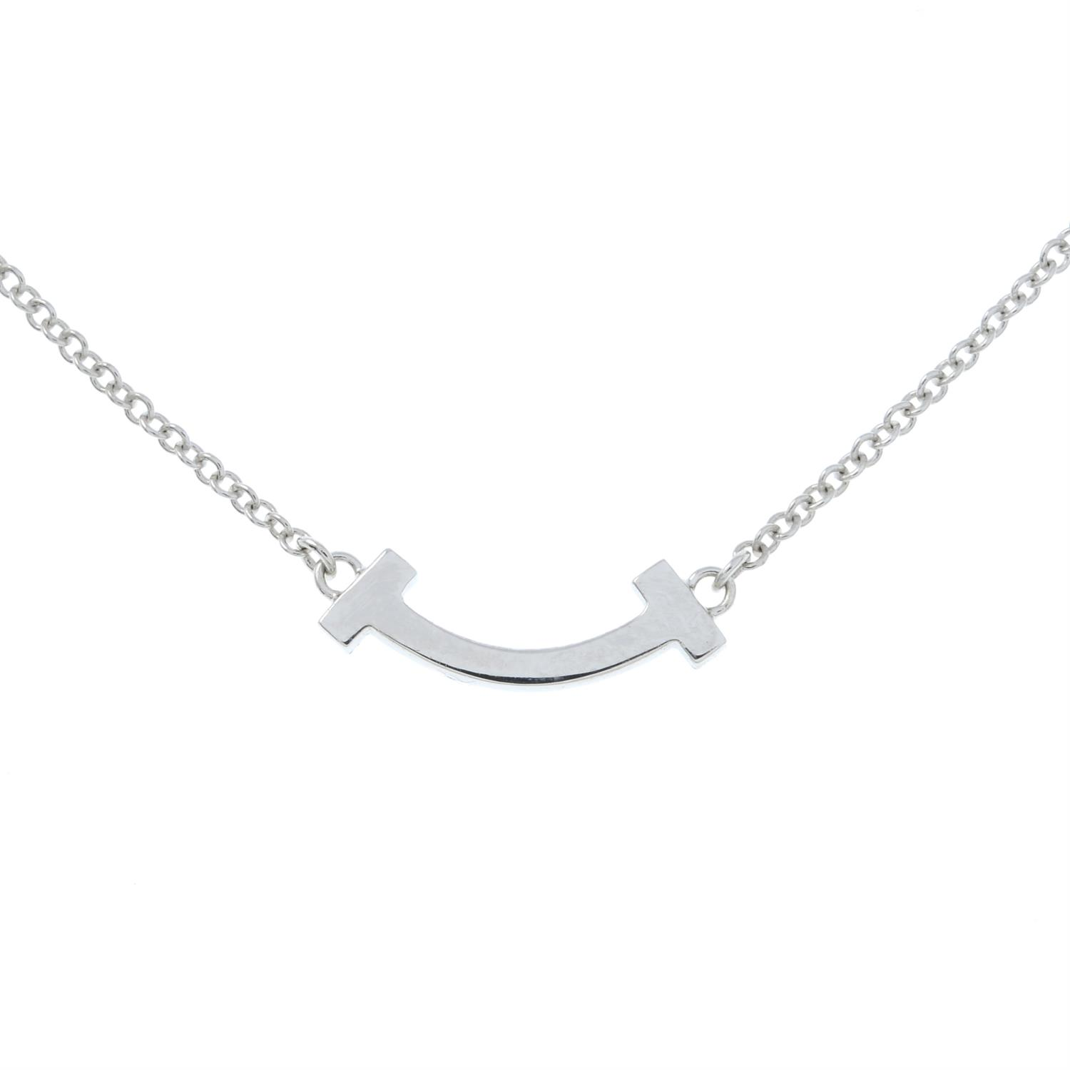 A diamond 'T Smile' pendant necklace, by Tiffany & Co. - Image 3 of 5