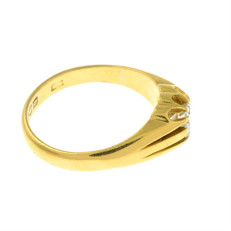 A gentleman's 22ct gold brilliant-cut diamond single-stone ring. - Image 4 of 6