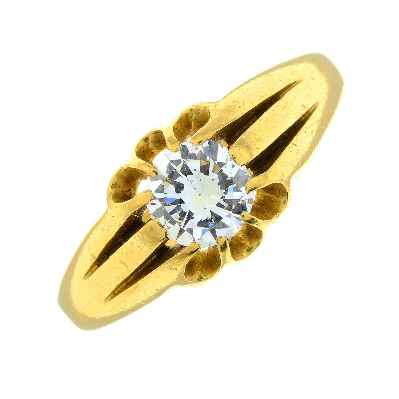 A gentleman's 22ct gold brilliant-cut diamond single-stone ring. - Image 2 of 6