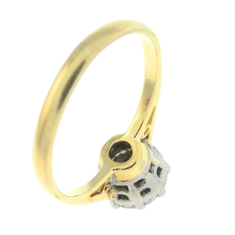 An 18ct gold brilliant-cut diamond single-stone ring. - Image 5 of 6