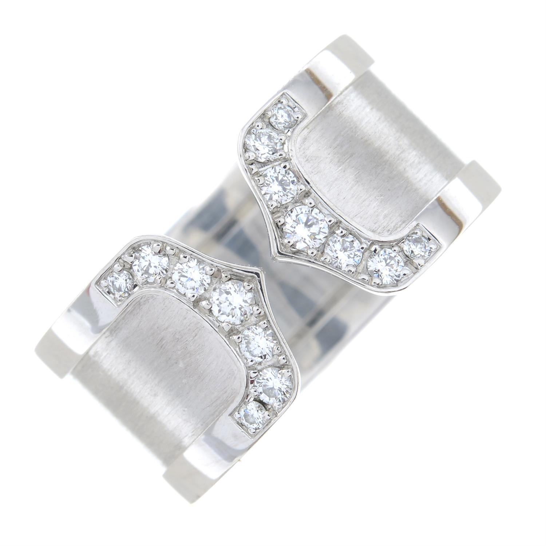 A diamond 'C de Cartier' ring, by Cartier. - Image 2 of 6
