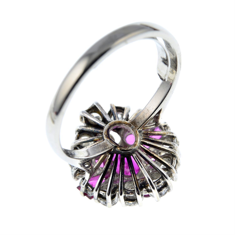 A vari-cut ruby and brilliant-cut diamond dress ring. - Image 3 of 6