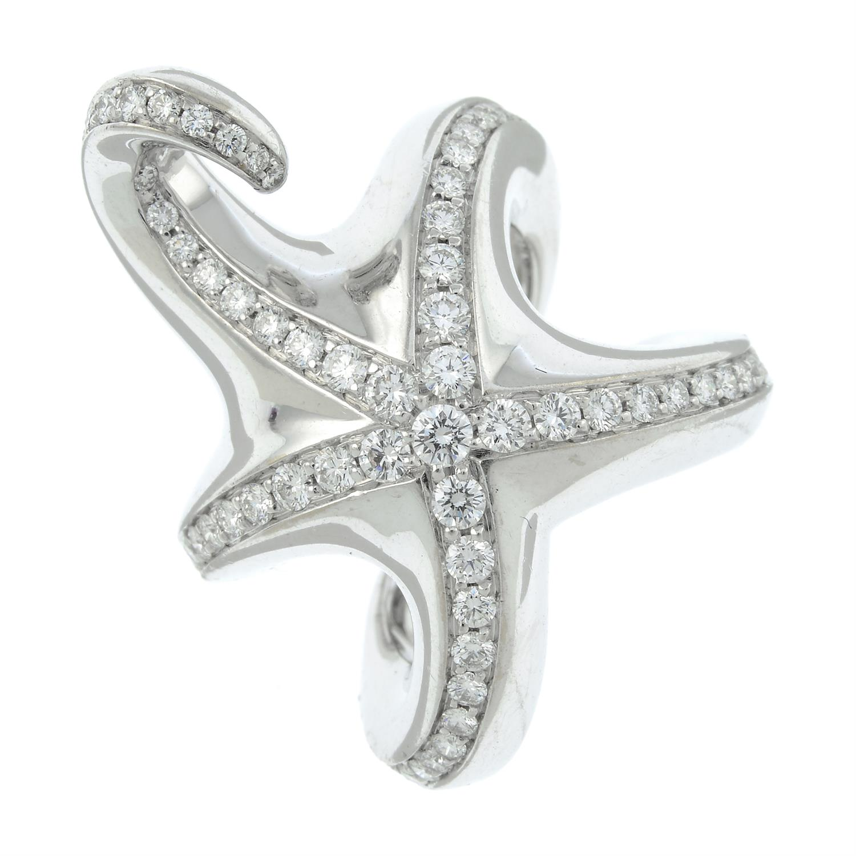 A brilliant-cut diamond starfish ring, by Boucheron. - Image 2 of 6