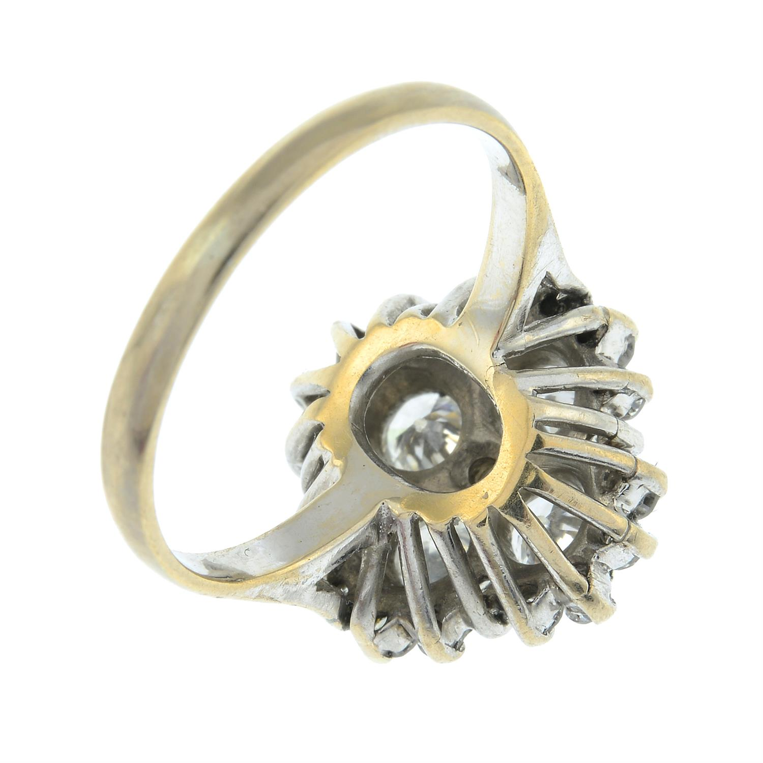 An 18ct gold brilliant-cut diamond cluster ring. - Image 5 of 6