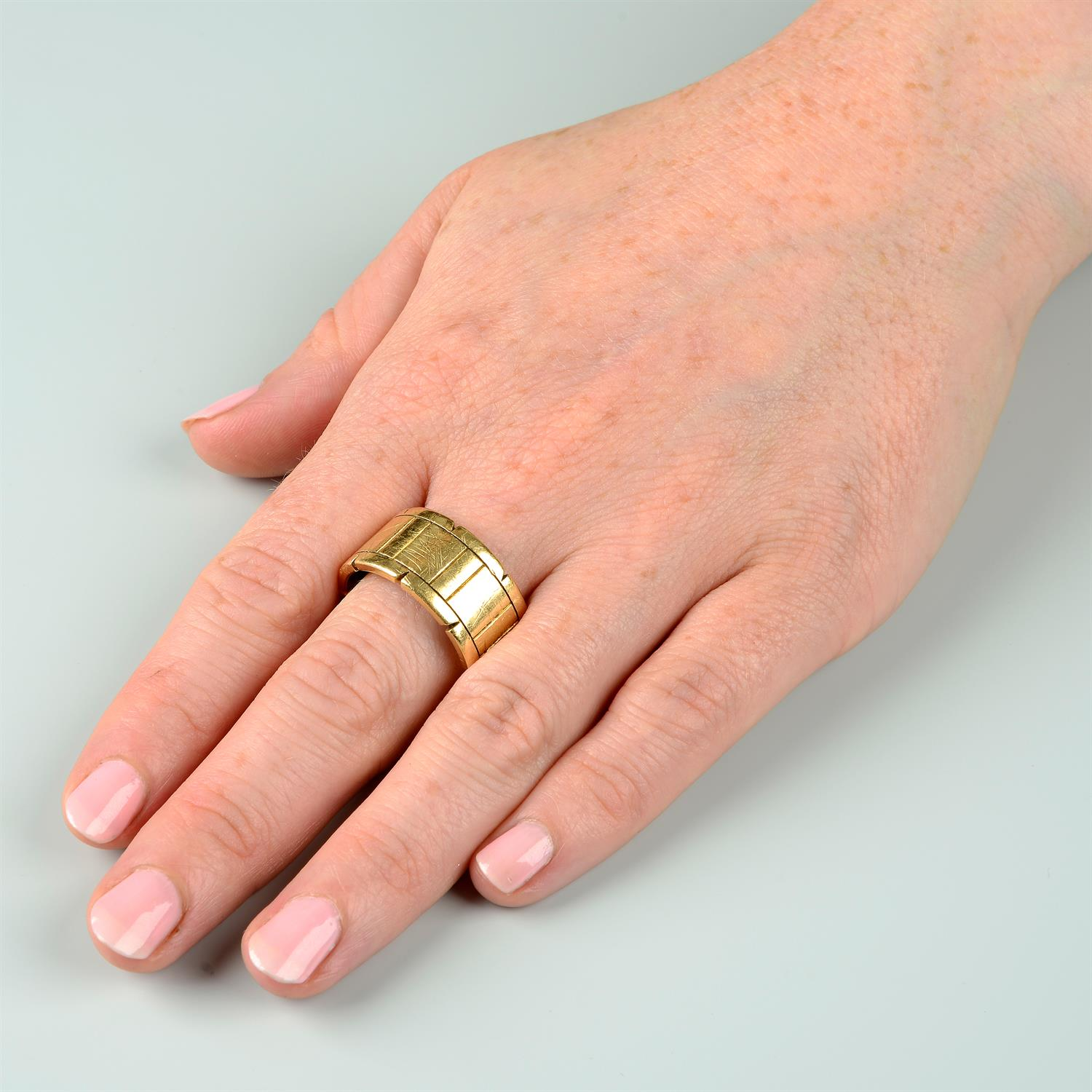 An 18ct gold 'Tank Francaise' ring, by Cartier. - Image 5 of 5