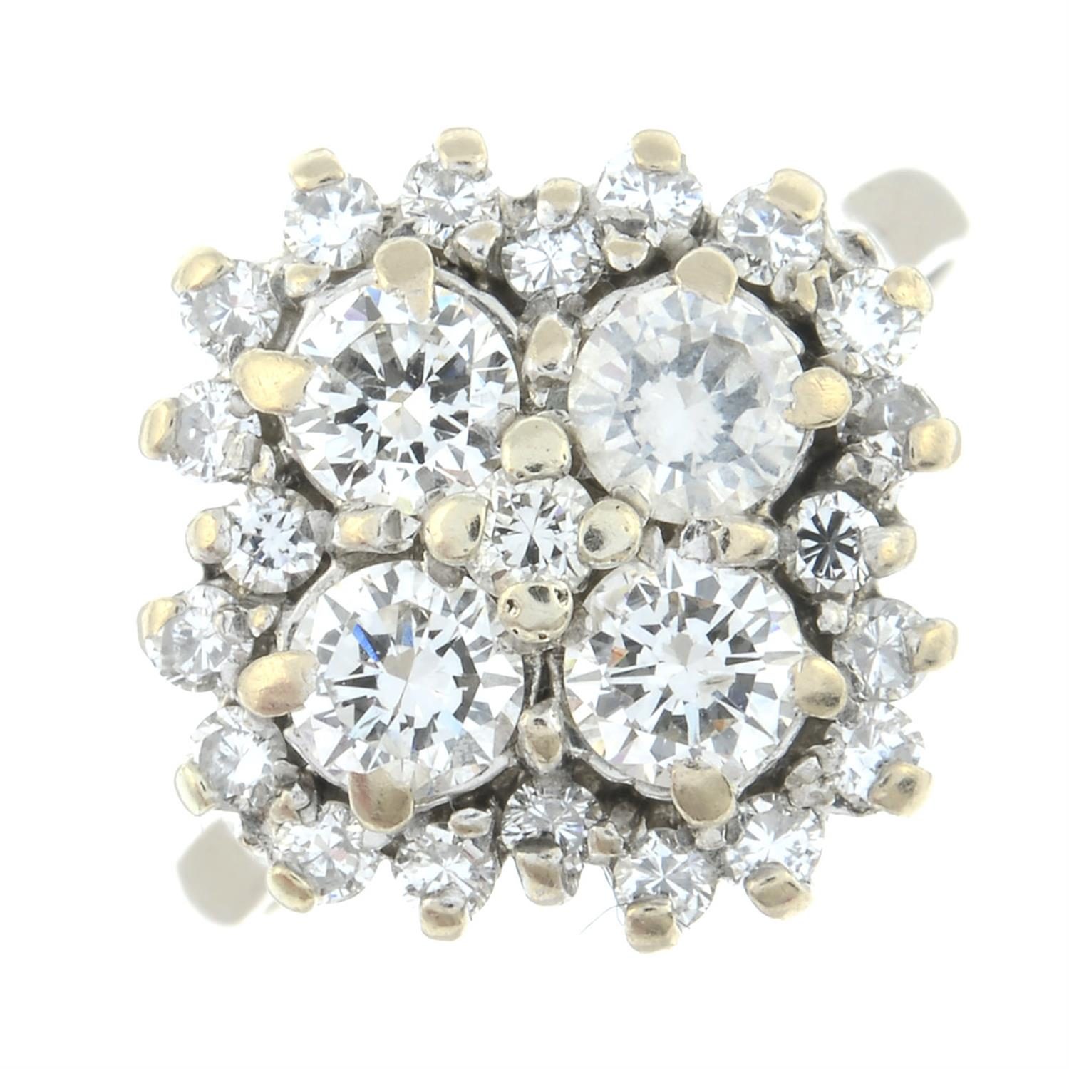 An 18ct gold brilliant-cut diamond cluster ring. - Image 2 of 6