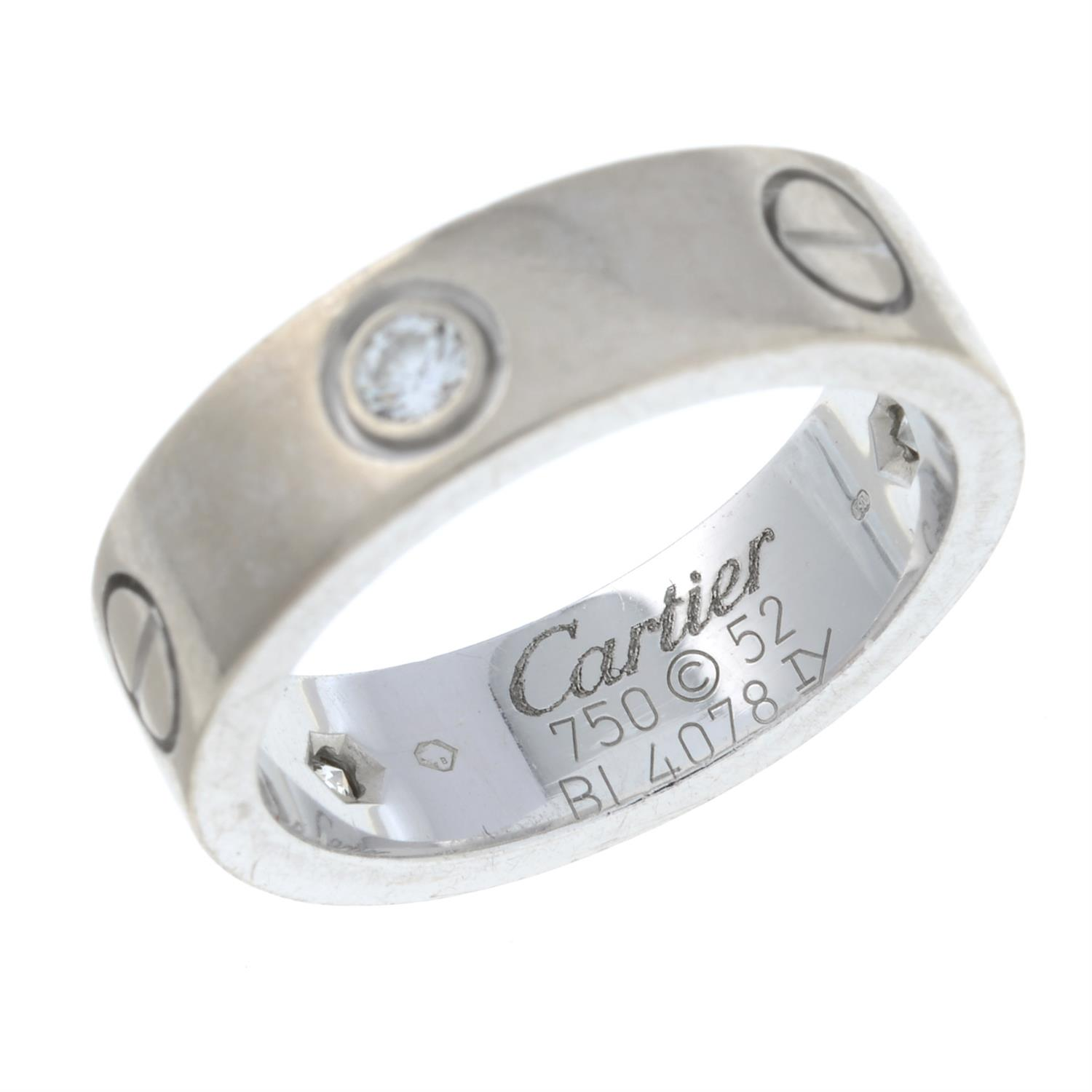 An 18ct gold diamond 'Love' ring, by Cartier. - Image 3 of 8