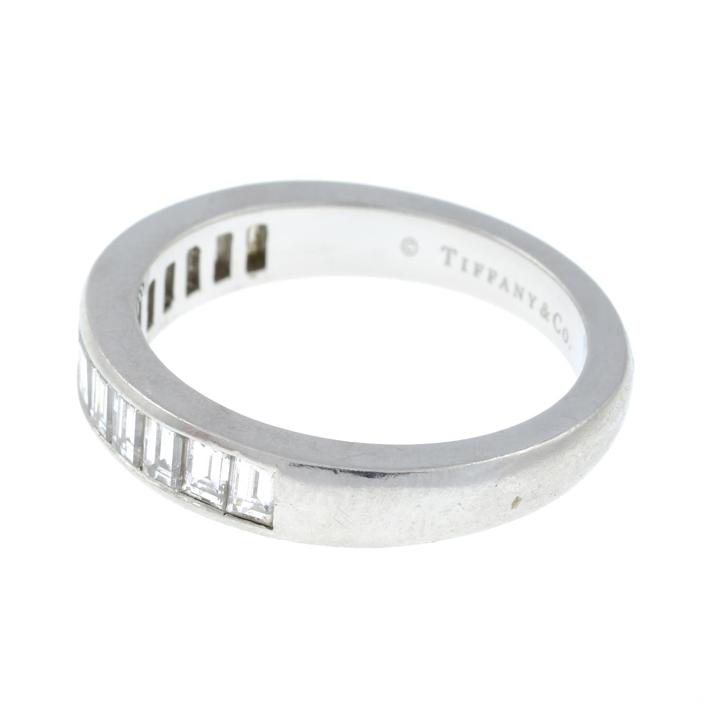 A platinum diamond half eternity ring, by Tiffany & Co. - Image 4 of 7