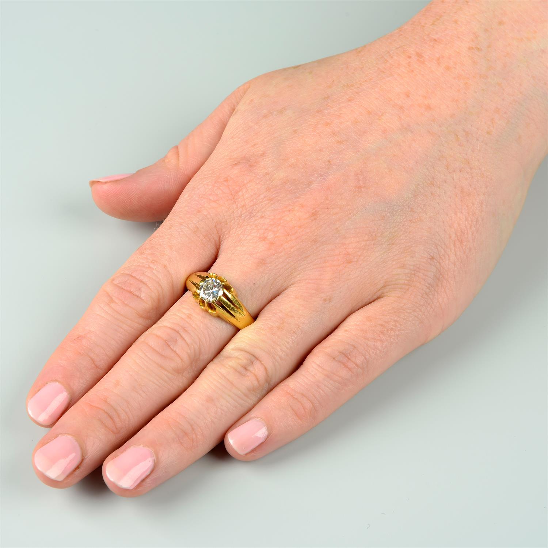 A gentleman's 22ct gold brilliant-cut diamond single-stone ring. - Image 6 of 6