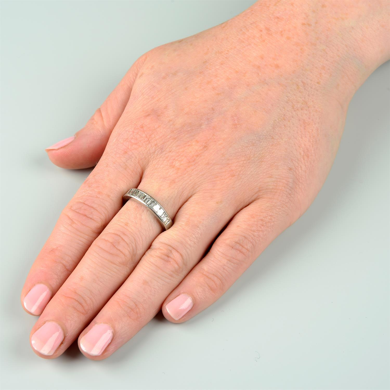 A platinum diamond half eternity ring, by Tiffany & Co. - Image 7 of 7