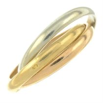 A 'Trinity' ring, by Cartier.