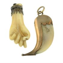 Two late 19th century pendants.