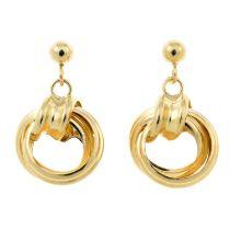 Two pairs of drop earrings.