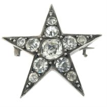 A late 19th century paste star brooch.