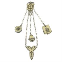 A late 19th century ivory chatelaine.