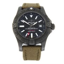 BREITLING - a limited edition PVD coated stainless steel Avenger II Seawolf wristwatch, 44mm.