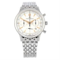 JAEGER-LECOULTRE - a stainless steel Master Control chronograph bracelet watch, 33mm.