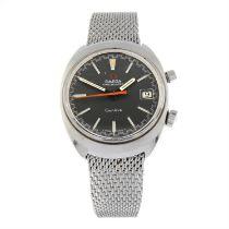 OMEGA - a stainless steel Chronostop bracelet watch, 35mm.