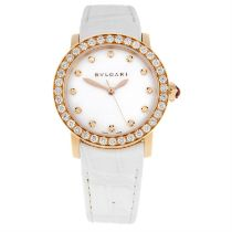 BULGARI - an 18ct rose gold wrist watch, 33mm.