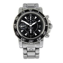 MONTBLANC - a stainless steel Meisterstuck chronograph bracelet watch, 45mm.