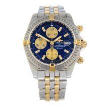 BREITLING - a bi-metal Chronomat chronograph bracelet watch, 43mm.