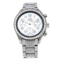 OMEGA - a stainless steel Speedmaster chronograph bracelet watch, 39mm.