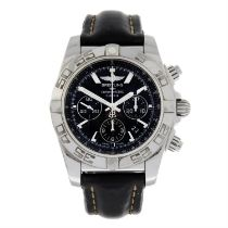BREITLING - a stainless steel Chronomat 01 Chronograph wrist watch, 44mm.