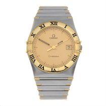 OMEGA - a bi-metal Constellation bracelet watch, 33mm.