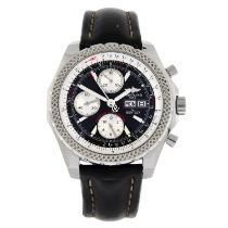 BREITLING - a stainless steel Bentley GT chronograph wrist watch, 47mm.