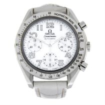 OMEGA - a stainless steel Speedmaster chronograph wrist watch, 39mm.