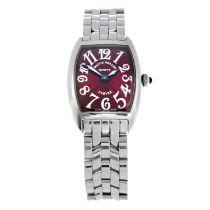 FRANCK MULLER - a stainless steel Cintree Curvex bracelet watch. 24x30mm.