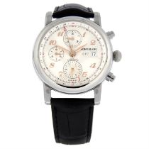 MONTBLANC - a stainless steel Star chronograph wrist watch, 42mm.