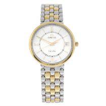 OMEGA - a bi-metal De Ville bracelet watch, 33mm.