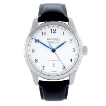 BREMONT - a stainless steel Americas Cup wrist watch, 42mm.