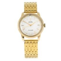 OMEGA - a gold plated Seamaster bracelet watch, 35mm.