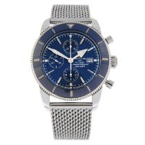 BREITLING - a stainless steel SuperOcean Heritage II Chronograph bracelet watch, 46mm.