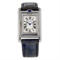 CARTIER - a stainless steel Basculante wrist watch, 22x27mm.