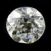 An old cut diamond, weighing 0.55ct