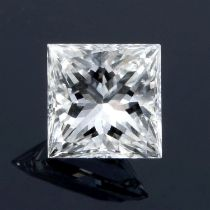 A square shape diamond, weighing 0.27ct