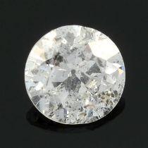A brilliant cut diamond, weighing 0.36ct.