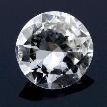 A brilliant cut diamond, weighing 0.42ct