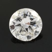 A brilliant cut diamond, estimated weight 0.57ct.
