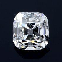 An asscher cut diamond, weighing 0.61ct