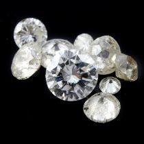 Selection of diamonds 6.12ct