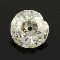 An old cut diamond, weighing 0.52ct.
