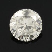 A brilliant cut diamond, estimated weight 0.38ct.