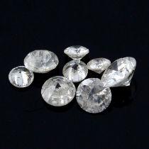 STUART DEVLIN STOCK - Fifteen brilliant cut diamonds, weighing 1.07ct