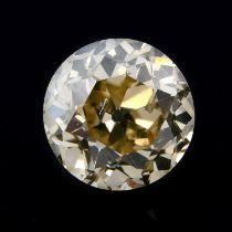 A brilliant cut diamond, weighing 0.63ct