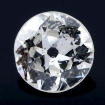 A brilliant cut diamond, weighing 0.51ct