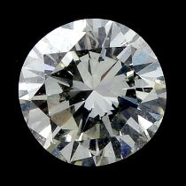 A brilliant cut diamond, weighing 0.38cts